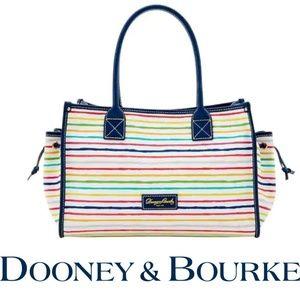 Dooney & Bourke 🌈 Multi Color Stripe Tote